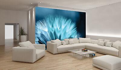 VLIES Fototapete-LÖWENZAHN- -Pusteblume Blau Deco Orchideen Pflanzen Blumen 256