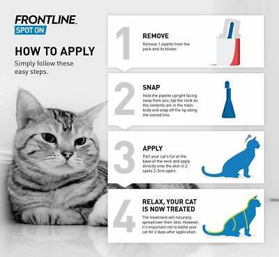 Frontline Spot On Cat Flea Tick Lice 1,3,6 Pipettes AVM-GSL FRONTLINE 4