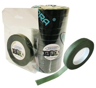 INERRA® 3 Rolls Stem Tape 90ft x 13mm Brown Green White Florist Garden Flowers 2