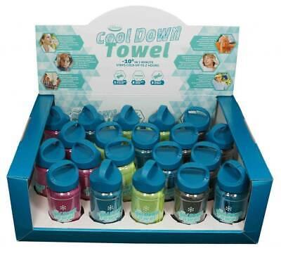2 x Cool Down Towel WUNSCHFARBE Kühltuch Sommerhitze Schweiß Schmerz Sonnenbrand