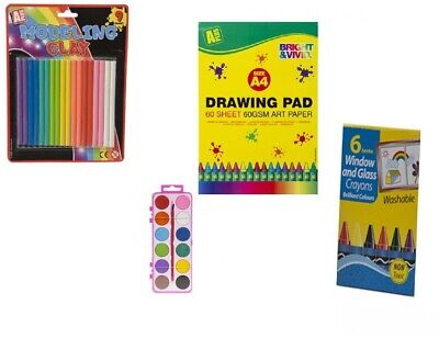 Kids arts and crafts kits activity creative paint stickers pens indoor play 5