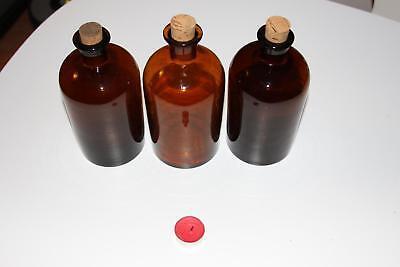 Apothekerflasche, Form selten, rund, alt, STOPFEN