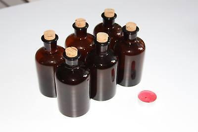 Apothekerflasche, Form selten, rund, alt, ca 14,5cm 6 stck.