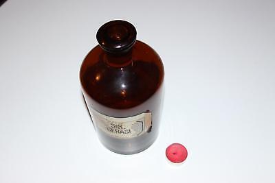 Apothekerflasche, Form selten, rund, alt, SIR. CERASI, SCHLIFF STOPFEN, große