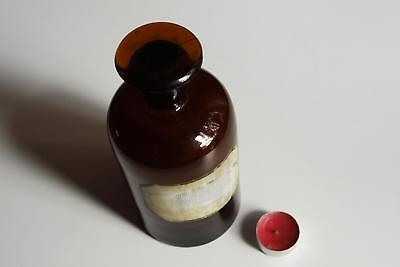 Apothekerflasche, Form selten, rund, alt, SCHLIFF STOPFEN