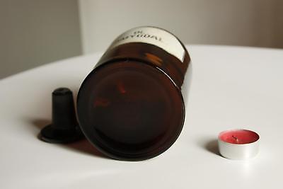 Apothekerflasche, Form selten, rund, alt, OL. AMYGDAL. SCHLIFF STOPFEN