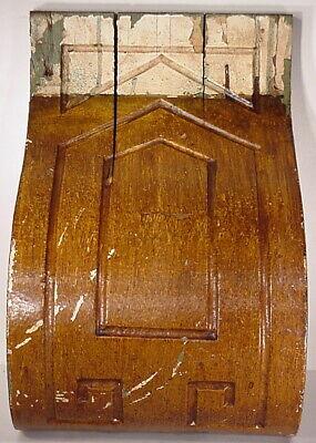 Antique Sconce Hand Carved Architectural Wood Bracket Art Deco Corbel Pediment 7