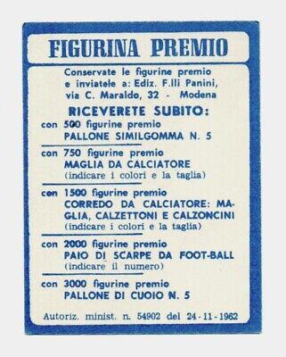 Figurina Premio Panini Calciatori 1962-63 - Spal - Gori - Nuova* 3