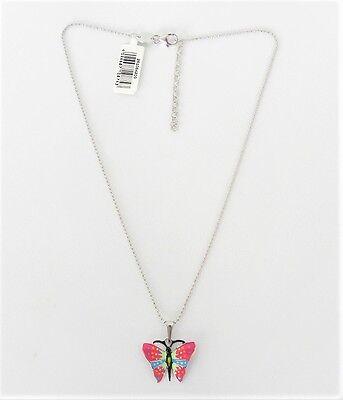 KINDERSCHMUCK KETTE KINDERKETTE Scout Schmetterling pink 925