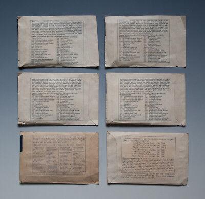 Konvolut 6 x Tüten Brauns Holzbeize wohl um 1960 2