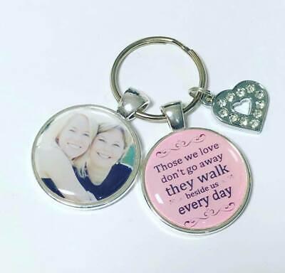Personalised Memory photo keyring Bereavement gifts memorial keyring memory 4