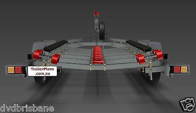 Trailer Plans - BOAT TRAILER PLANS - 7m(21ft) Monohull -PLANS ON USB Flash Drive 4