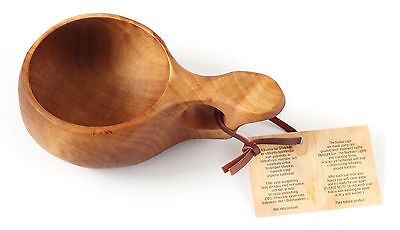 No12 KUKSA Cup Nordic wooden drinking cup HANDMADE in Lapland from CURLY BIRCH