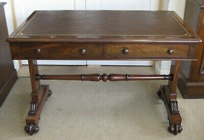 Antique Victorian Walnut Library Leather Top Table / Writing Sofa /Stunning Desk 2