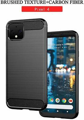 For Google Pixel 4 / XL Cover Carbon Fibre Armour Shockproof TPU Slim Soft Case 4