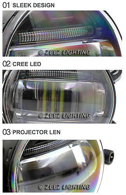 LED Projector Fog Driving Lamp w/ DRL Daytime Running Light For Cars Trucks SUVs 5