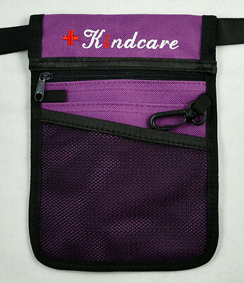 Nurse Pouch Extra Pocket Quick Pick Vet Agecare Bag with Belt Strap FREE Keyring 8