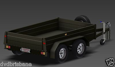 Trailer Plans - TANDEM BOX TRAILER PLANS - 8x5, 9x5, & 10x6ft - PLANS ON CD-ROM 7