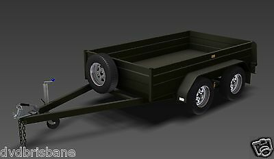 Trailer Plans - TANDEM BOX TRAILER PLANS - 8x5, 9x5, & 10x6ft - PLANS ON CD-ROM 5