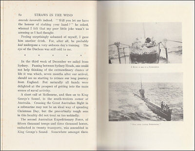 Stoker STRAWS IN THE WIND   Dardanelles  AUSTRALIAN SUBMARINE AE2  PoW in TURKEY 7