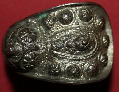 Antique Greek Orthodox Folk Silverplated Fertility Bracelet