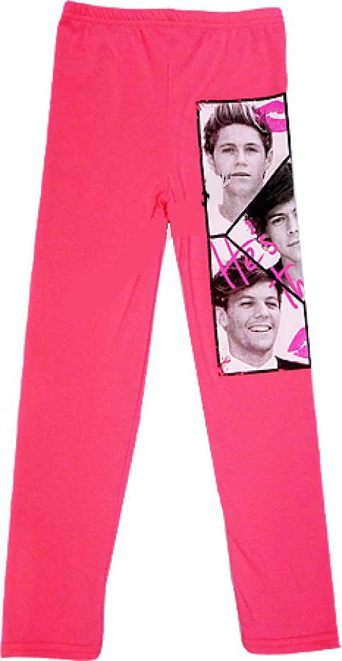 ONE DIRECTION 1D LEGGINGS PANTS Age 7 8 9 10 11 12 13 years GIRLS KIDS Stretchy 2