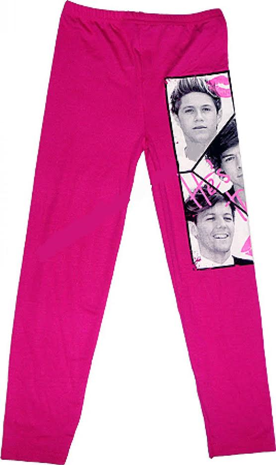 ONE DIRECTION 1D LEGGINGS PANTS Age 7 8 9 10 11 12 13 years GIRLS KIDS Stretchy 3