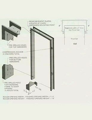 6\' X 7\' Restaurant Door Frame. Commercial Door Frames Hollow Metal ...
