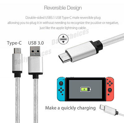 Nintendo Switch USB Charger Charging Power Cable Cord for Nintendo Switch 2M 3M 3