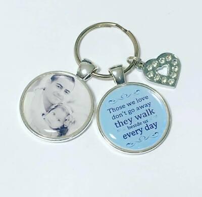 Personalised Memory photo keyring Bereavement gifts memorial keyring memory 6