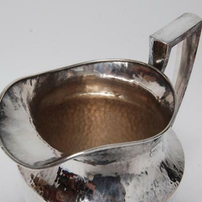 Antique Apollo Sheffield Nickel-Silver Hand Hammered Pitcher Bernard Rice's Sons 7