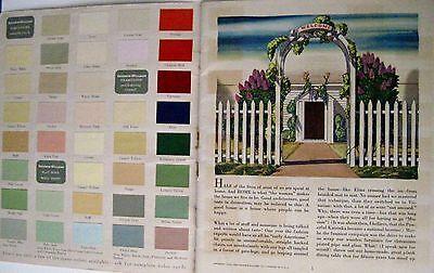 "Vintage 1939 Booklet ""Home Decorator & Color Guide by Rockwell Kent (Artist) * 2"