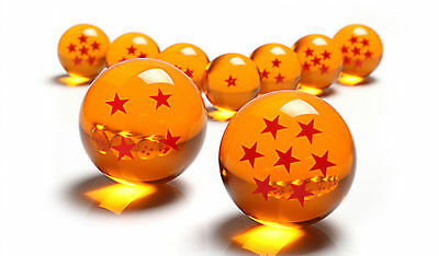 1set 7 Stars Crystal Balls 3.5CM Dragon Ball Z Set New Box 7 Pcs Complete New US
