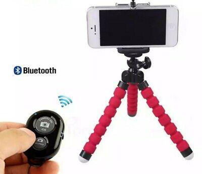 Treppiede cavalletto Flessibile supporto smartphone go pro telecomando Bluetooth 3