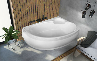 Badewanne Eckbadewanne Dusche 140x95 Cm Schürze Ablauf