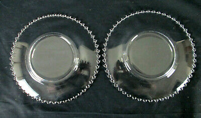 """2 Imperial Glass Candlewick Clear (Stem 3400) 8 3/4"""" Luncheon Plate 5"""