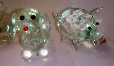 Set of 5 Crystal Glass Animals 5