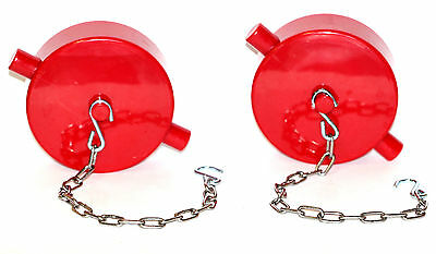 "M Polycarbonate Red 2pk Fire Hydrant Adapter Plug and Chain 1-1//2/"" NST"