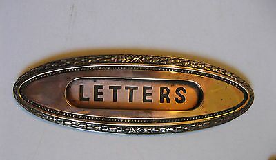 Antique Victorian Yale & Towne Fancy Brass Door Letters Plate 2