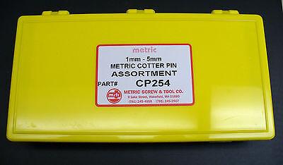 METRIC COTTER PIN ASSORTMENT 1, 1.6, 2, 2.5, 3, 4 & 5mm DIN 94