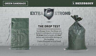 Sandbaggy 10 Green Empty Sandbags For Sale 14x26 Sandbag Sand Bags Bag Poly 4