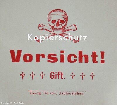 20 x Tüten Vorsicht! Gift mit Totenkopf um 1900 4