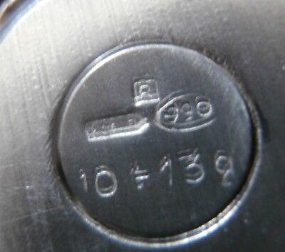 uovo - ovetto - fiocco - placcato - argento 990 - R 10-13 Gr. - firenze 4