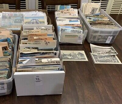Lot of 50 Antique & Vintage Postcards,1900s-1970s. All USA. Used And Unused !! 4