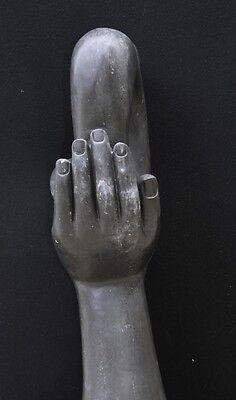 Italian Marble Modernist Art Sculpture Hand Figurine Statue Abstract 9