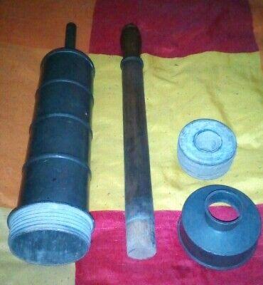 große alte SPRITZE Metall, Einlauf, Klistier ca 50 cm lang Durchmesser 10 cm 4