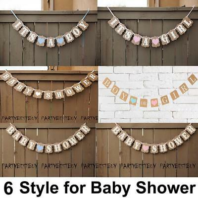 It's A Boy/Girl Baby Shower Bunting Party Banner Garland Pompoms Hanging Decor