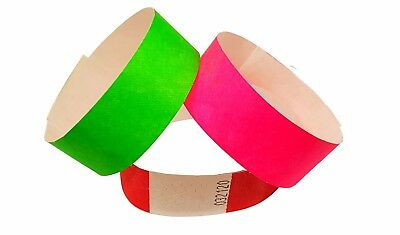 """Wristbands Tyvek 3/4"""" Security Event Paper Like Plain or Custom Printed id bands 4"""