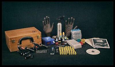 UK Tattoo Kit Sets full SAFE Power supply professional USA INK MACHINES Guns Pro 2