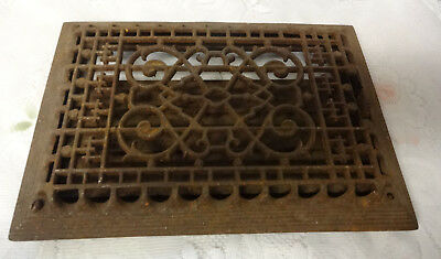 Vintage Ornate Heat Register Cast Iron Wall Floor Grate Heat Vent
